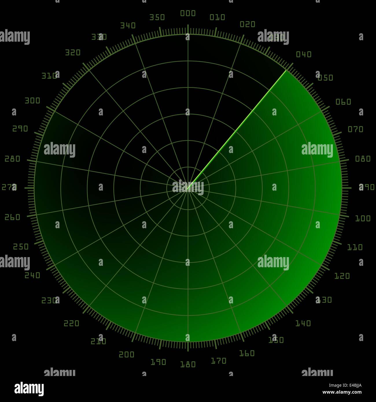 radar screen - Stock Image