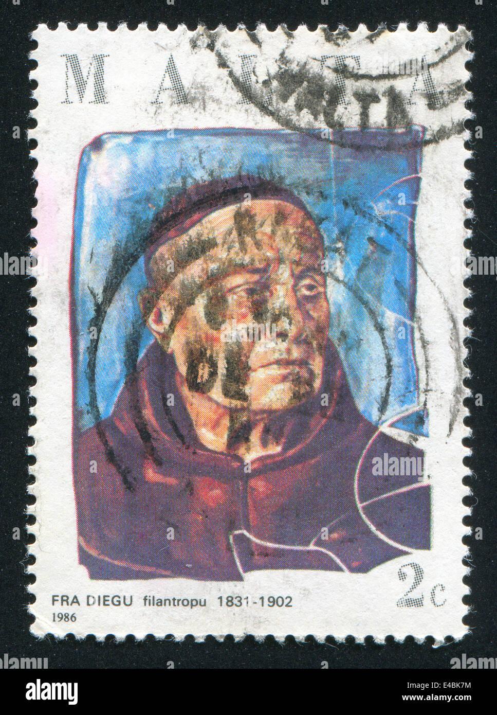 Philanthropist Fra Diegu - Stock Image