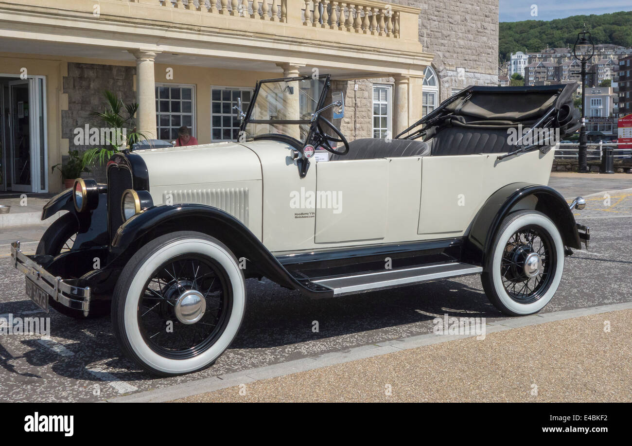 'Blanche' 1925 Chevrolet Superior 'K' Series Roadster at Knightstone, Weston-super-Mare, Somerset, - Stock Image