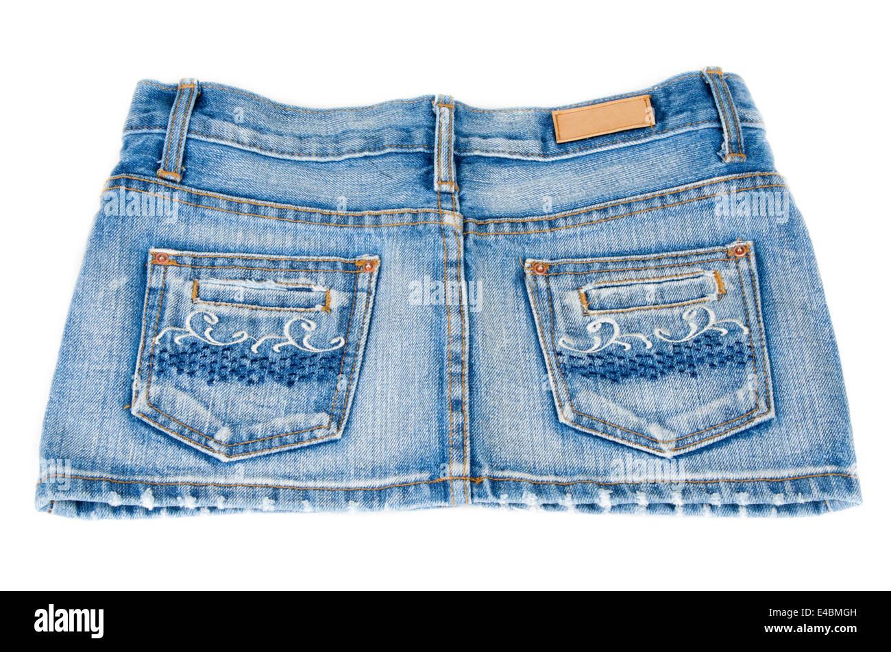 Jeans mini skirt - Stock Image