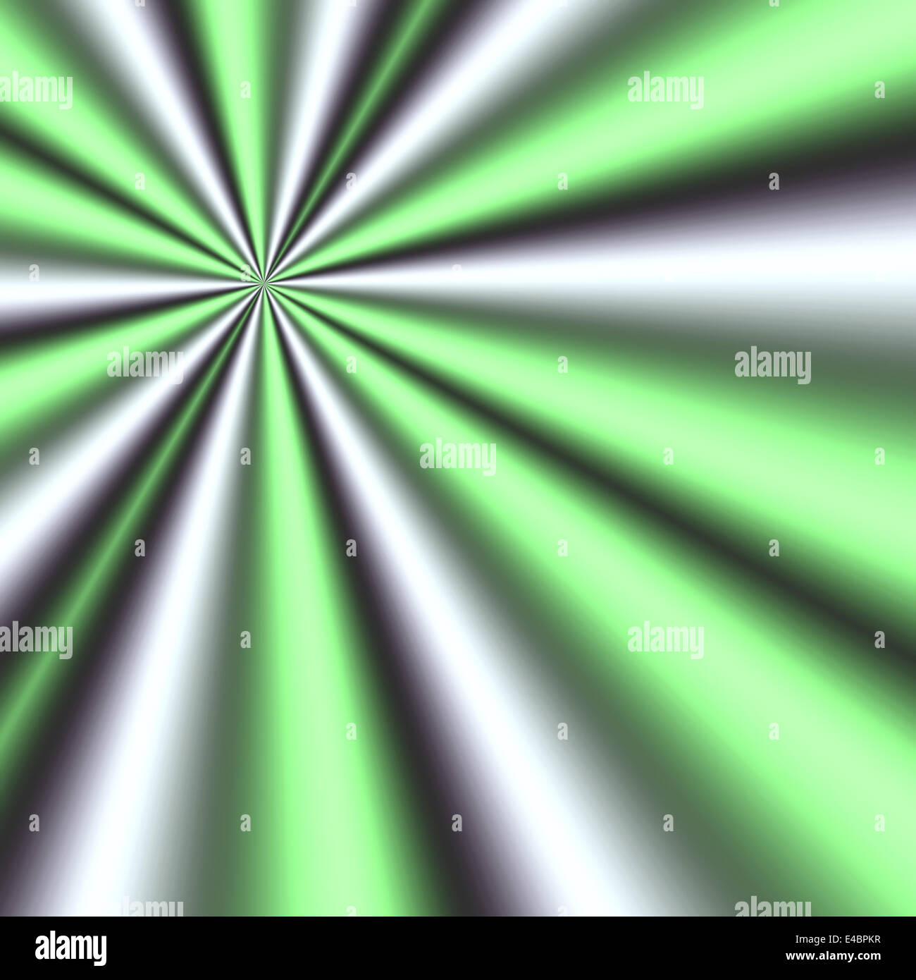 generated green and white rays - Stock Image