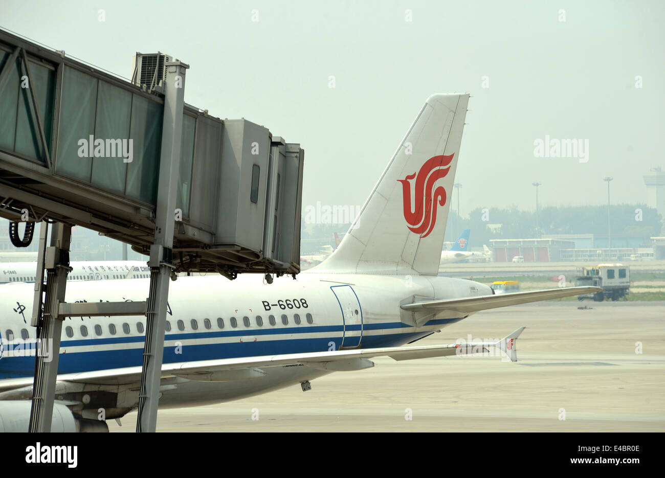 Airbus A320-214 of Air China  Beijing  international airport China - Stock Image