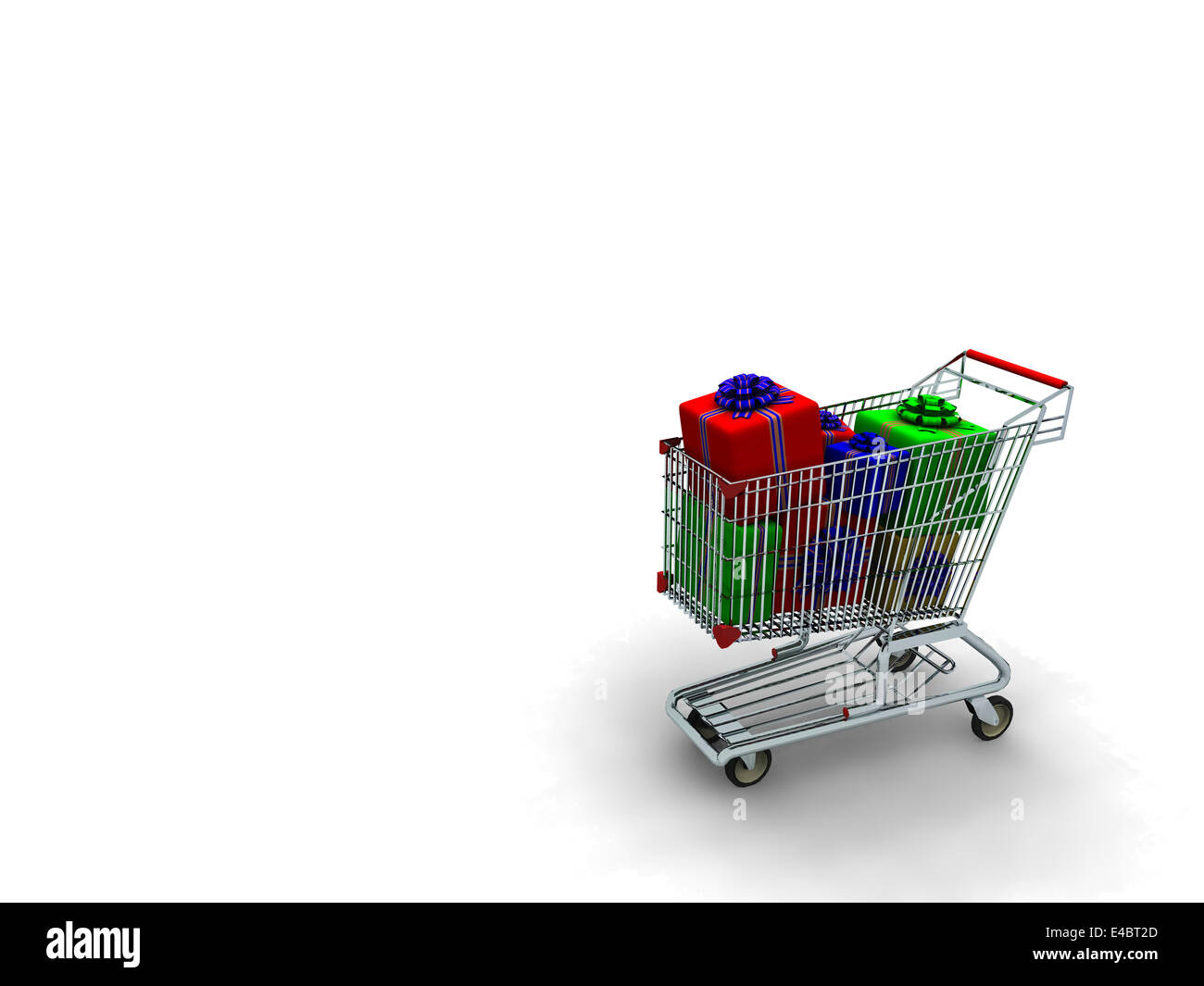 story light cart with in a number of gifts - Stock Image