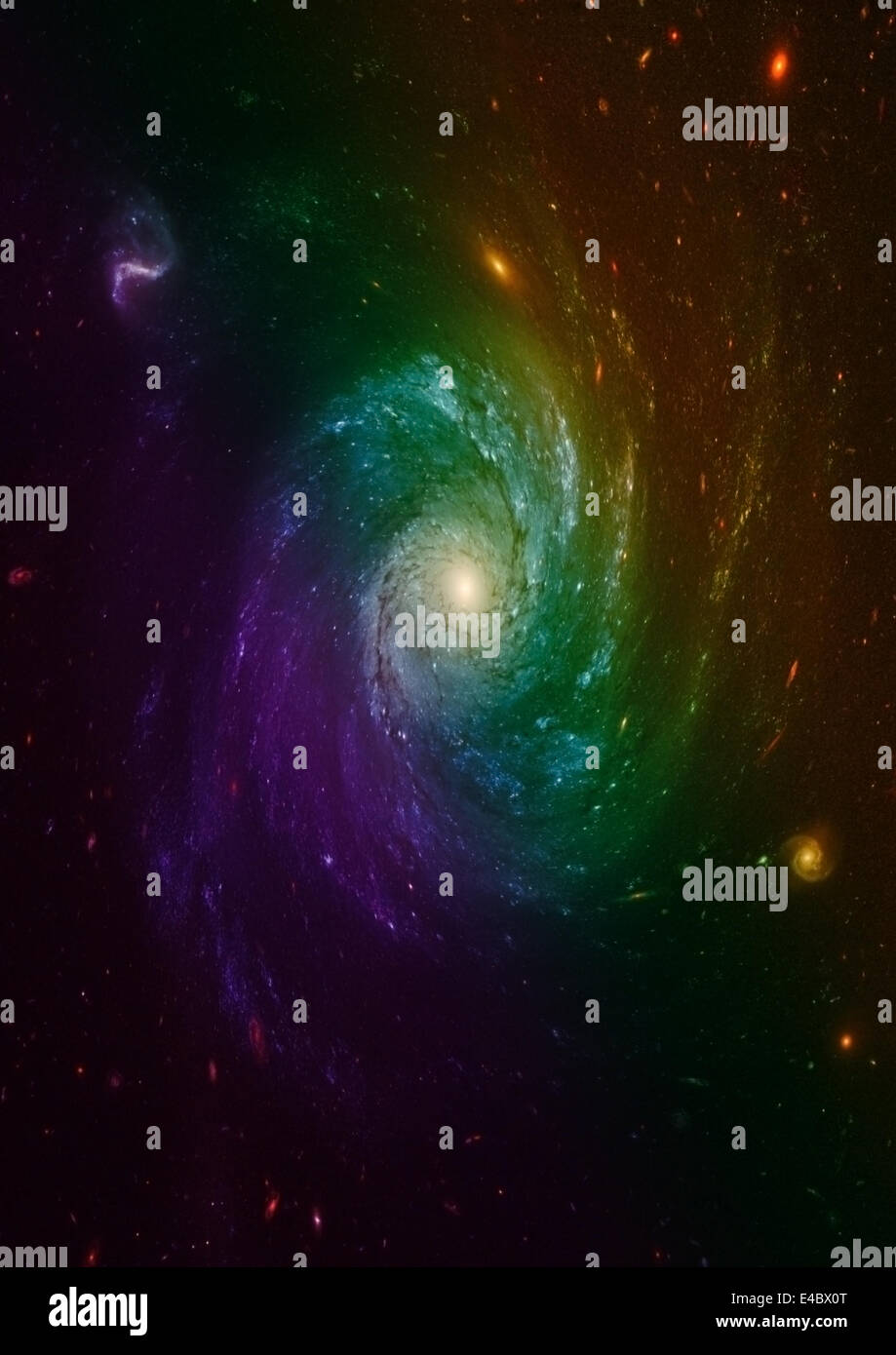 galaxy in a free space - Stock Image