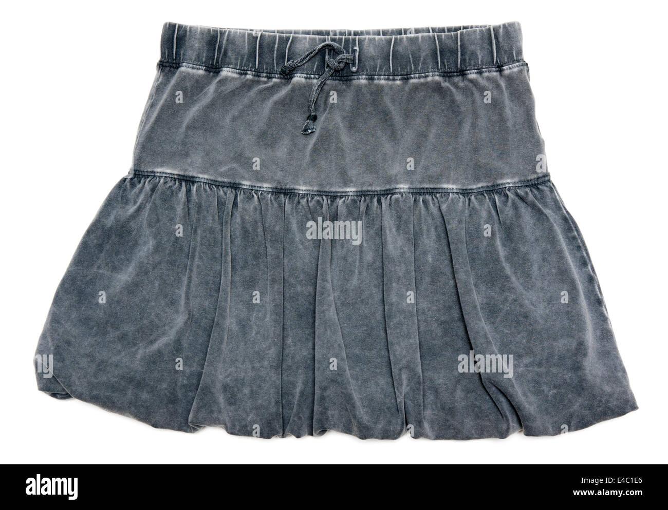 Gray feminine skirt - Stock Image
