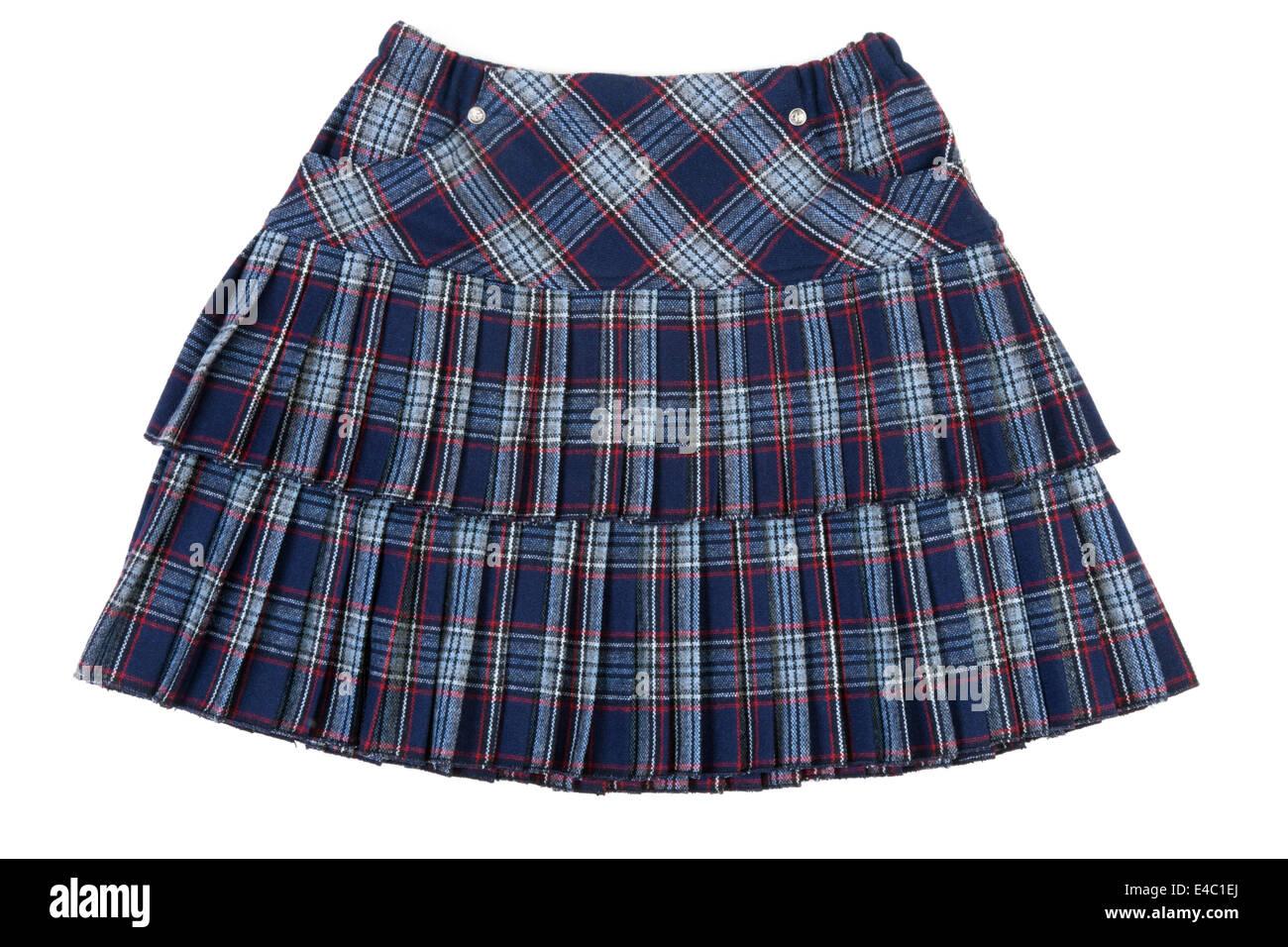 Plaid feminine skirt - Stock Image