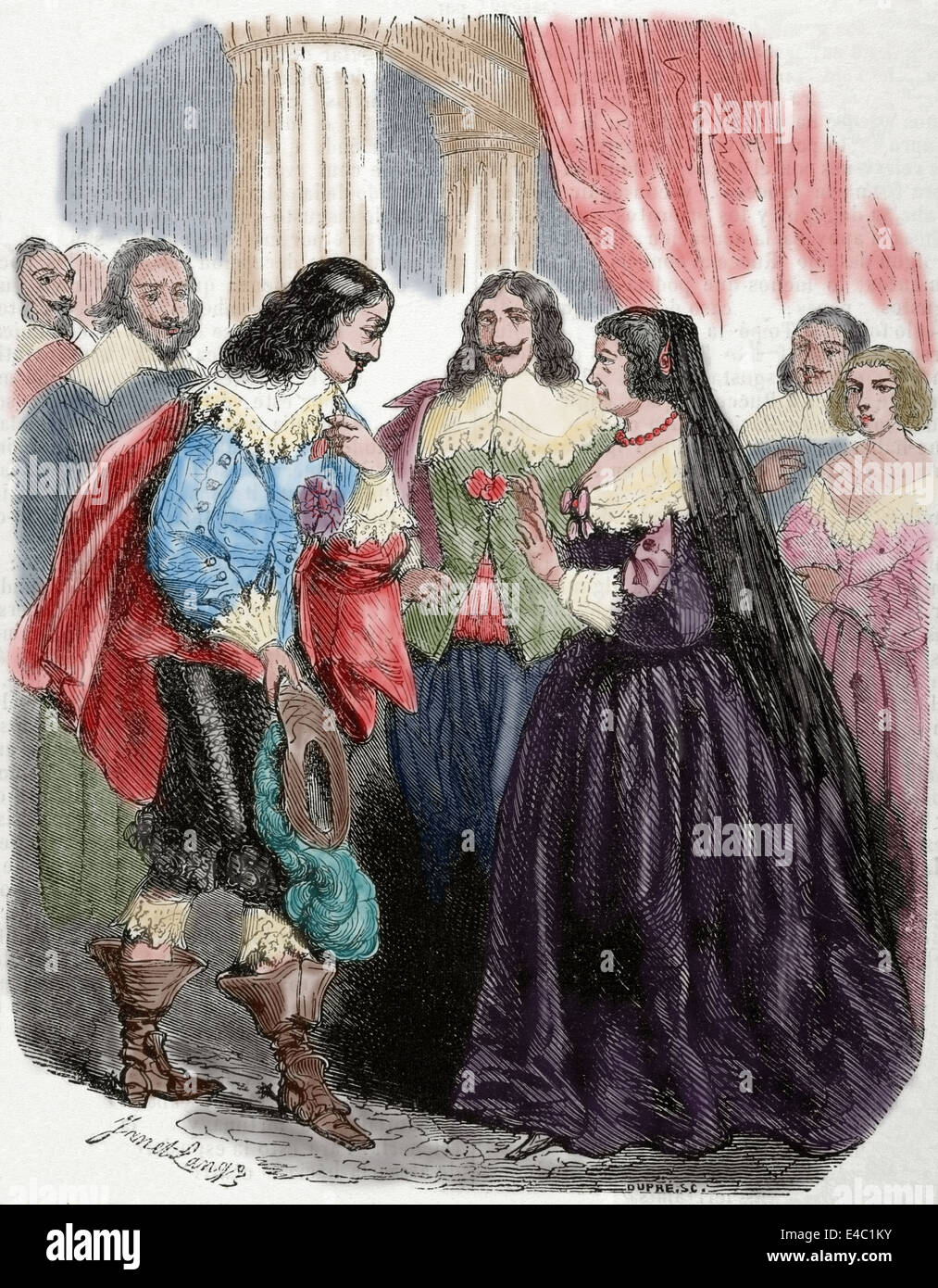 Louis XIII of France (1601-1643). Interview between Louis XIII and his mother Marie de Medici. Castle Coursière - Stock Image