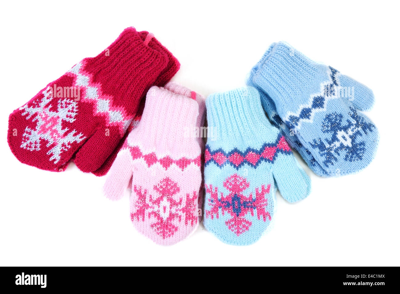 0578fbc69 Knitted Woolen Baby Gloves Stock Photos & Knitted Woolen Baby Gloves ...
