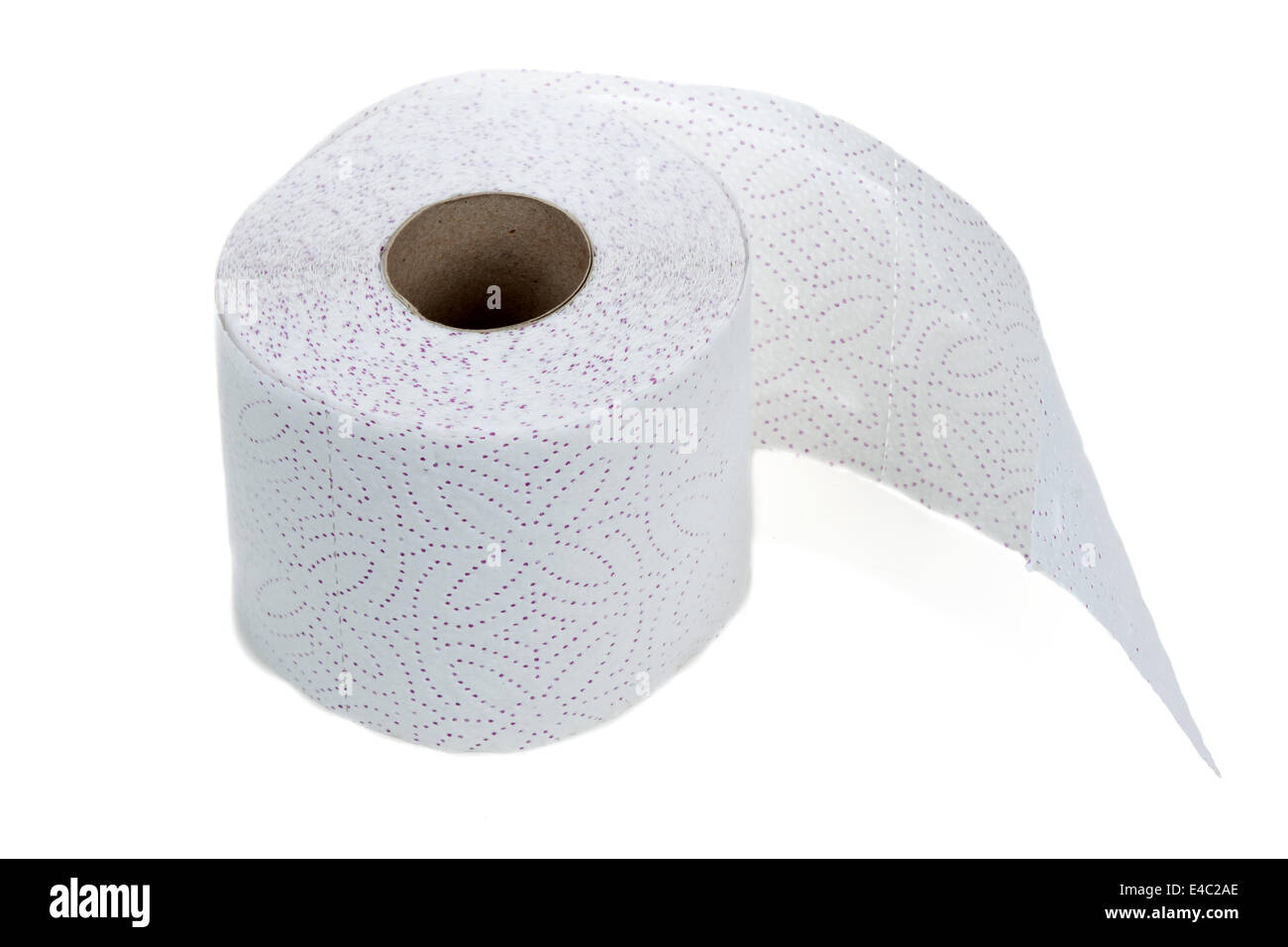 Perforated toilet paper in roll - Stock Image