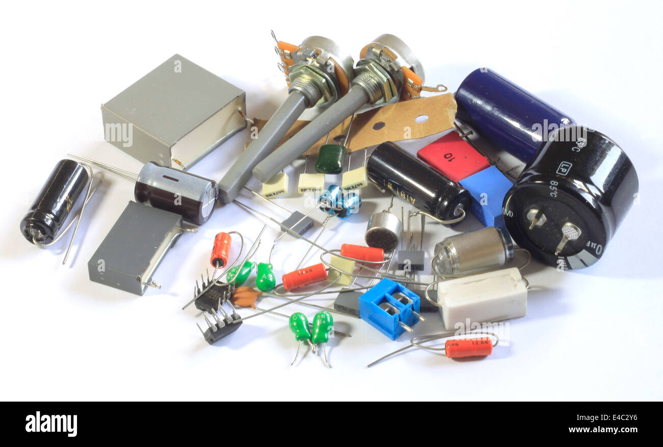 Electronic parts - Stock Image