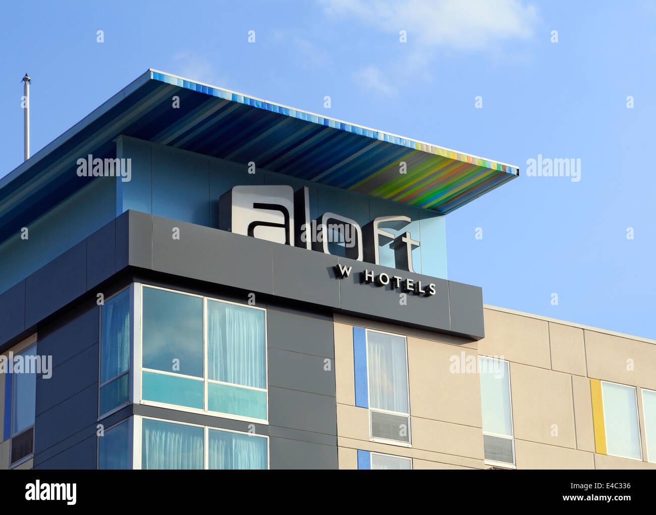 Aloft hotel in Asheville, North Carolina. - Stock Image