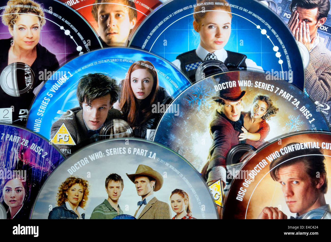 Dr Who DVDs - Stock Image