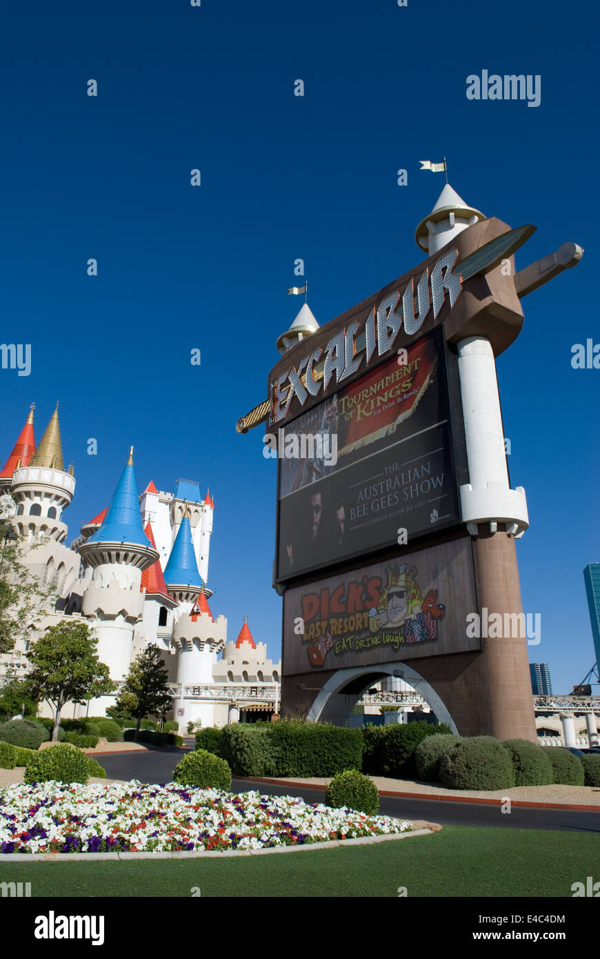 Excalibur Hotel and Casino Las Vegas Nevada USA Stock Photo