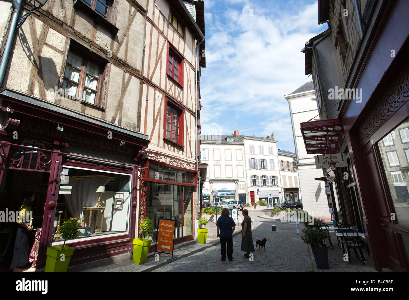 Village de la Boucherie, Limoges, Haute-Vienne, Limousin region, West-Central France, Europe - Stock Image