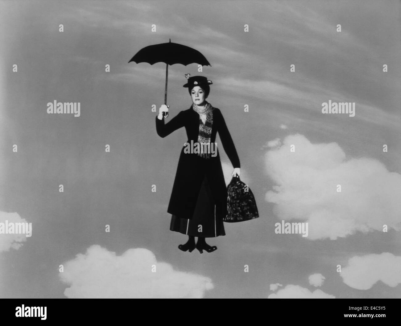 Julie Andrews, on-set of the Film, 'Mary Poppins', 1964 - Stock Image