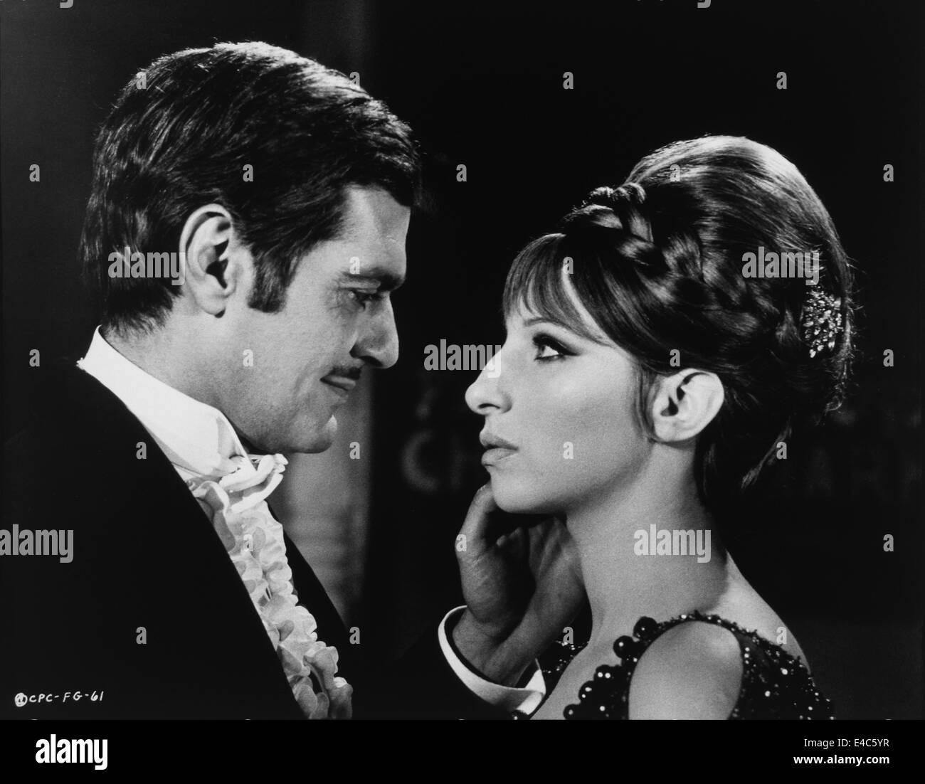 Omar Sharif, Barbra Streisand, on-set of the Film, 'Funny Girl', 1968 - Stock Image