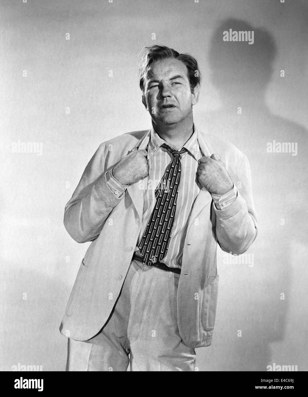 Broderick Crawford, Publicity Portrait, on-set of the Film, 'All the King's Men', 1949 - Stock Image