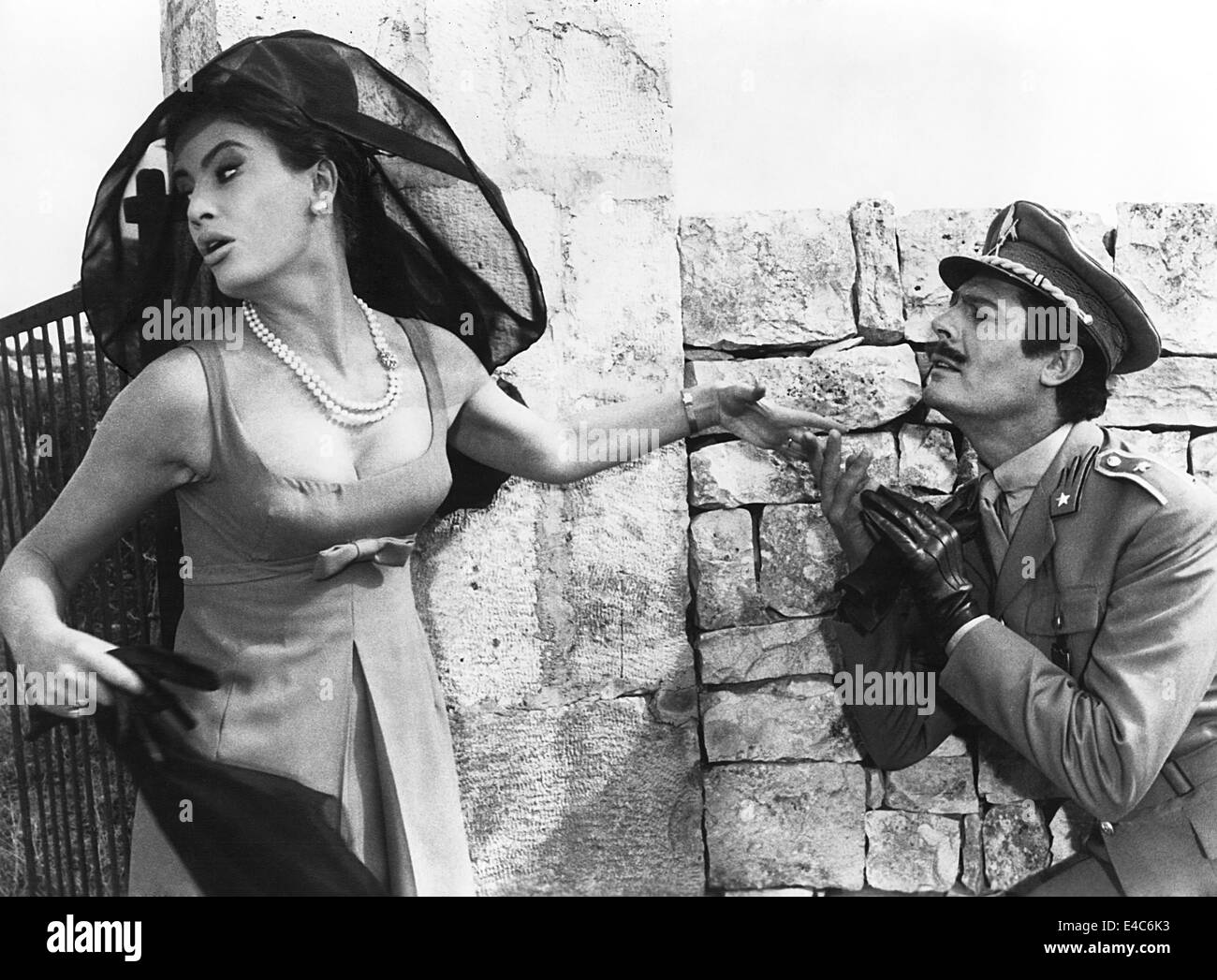 Marisa Mell, Marcello Mastroianni, on-set of the Film, 'Casanova '70', 1965 - Stock Image