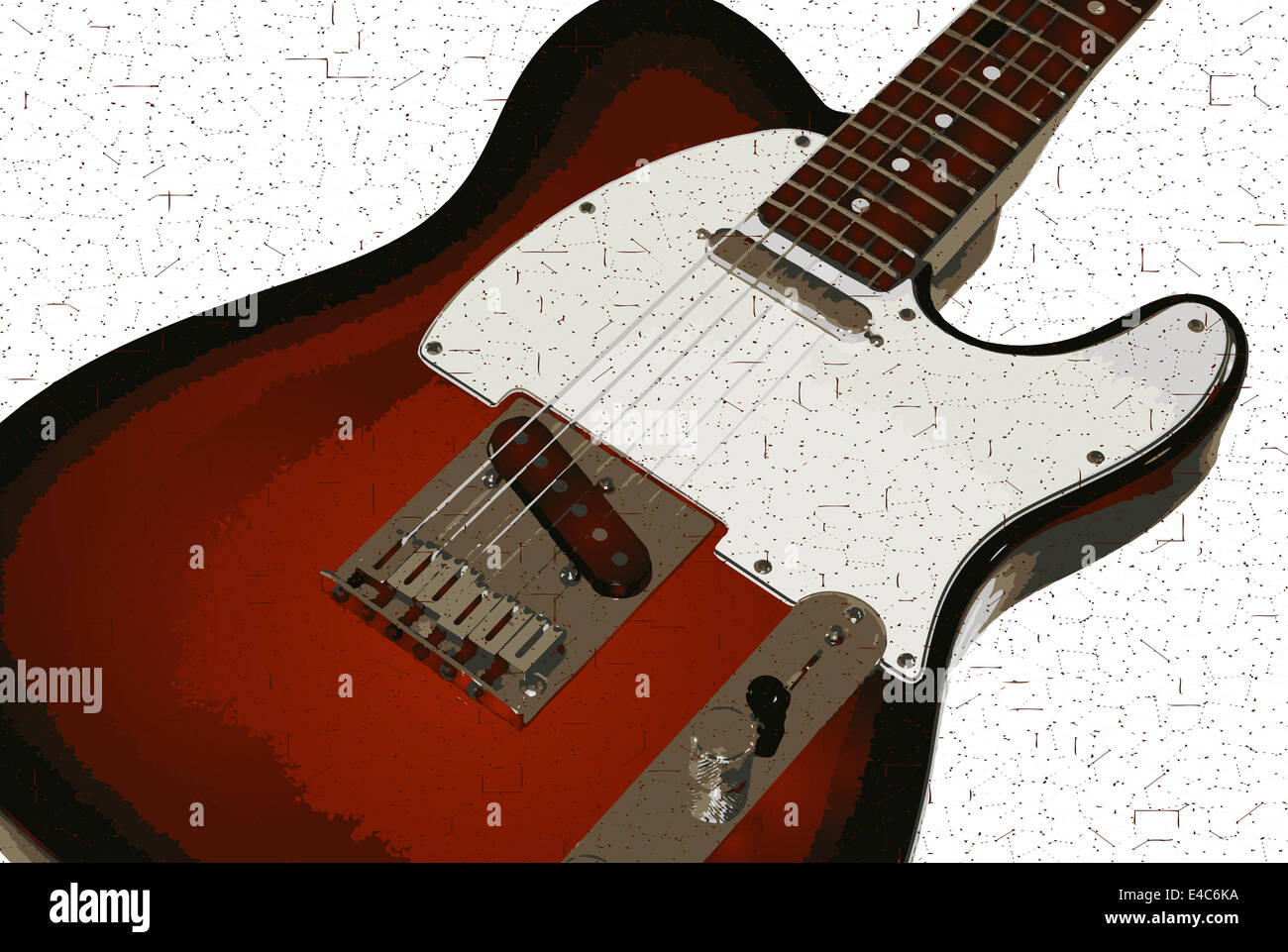 Text Rock Music Monochrome Music Bands 2652x2284 Wallpaper: Electric Guitar Drawing On White Stock Photos & Electric