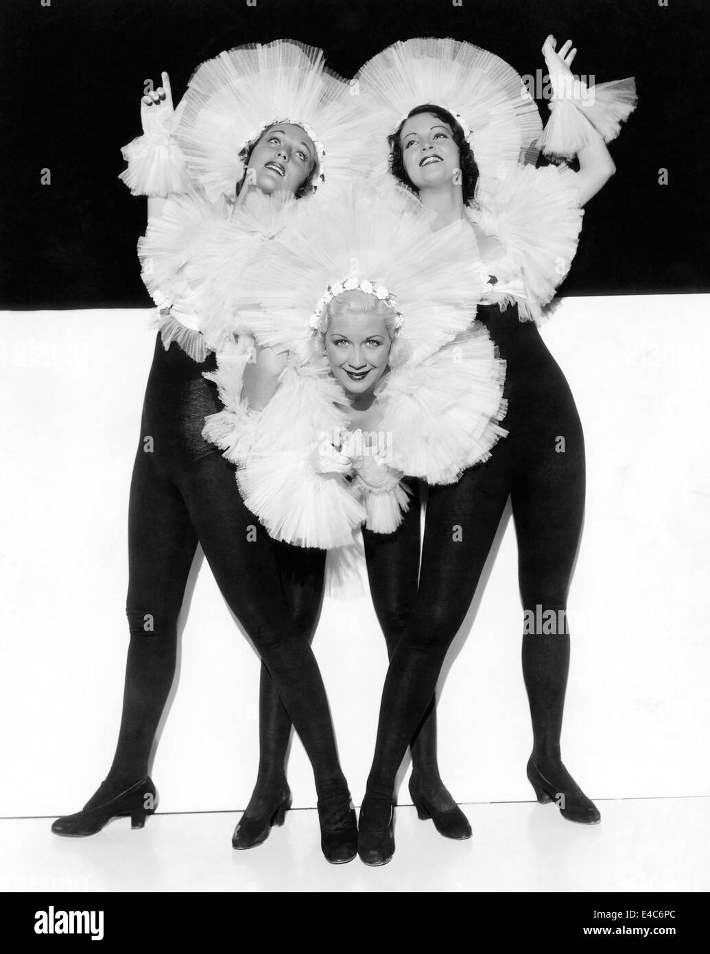 Three Chorus Girls, Publicity Portrait on-set of the Film, 'Dames'