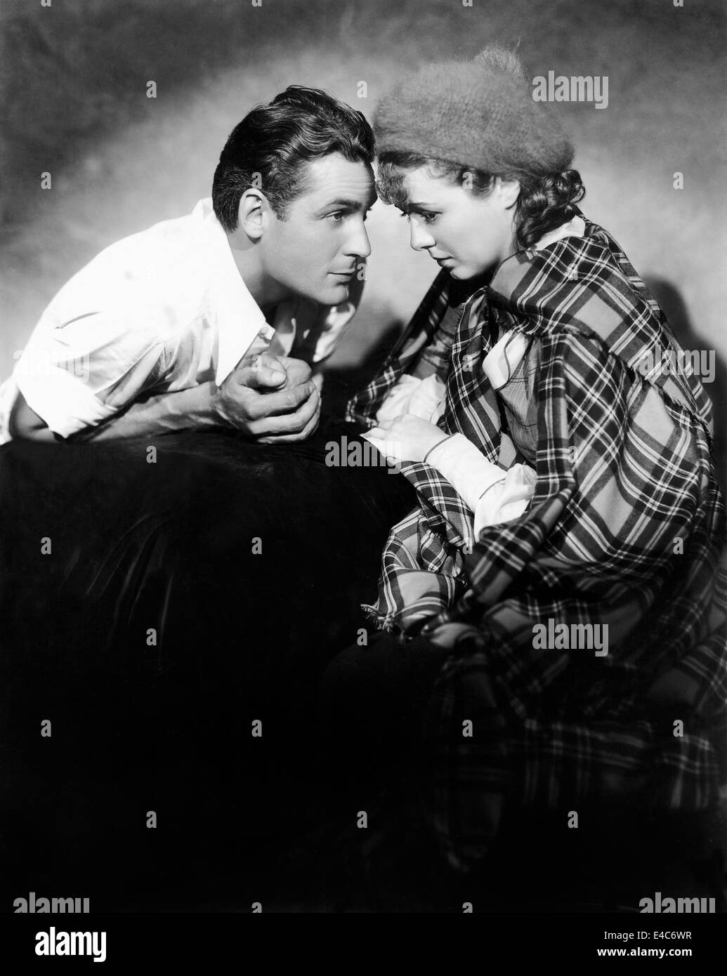 Charles Farrell, Janet Gaynor, on-set of the Film, 'Delicious', 1931 - Stock Image