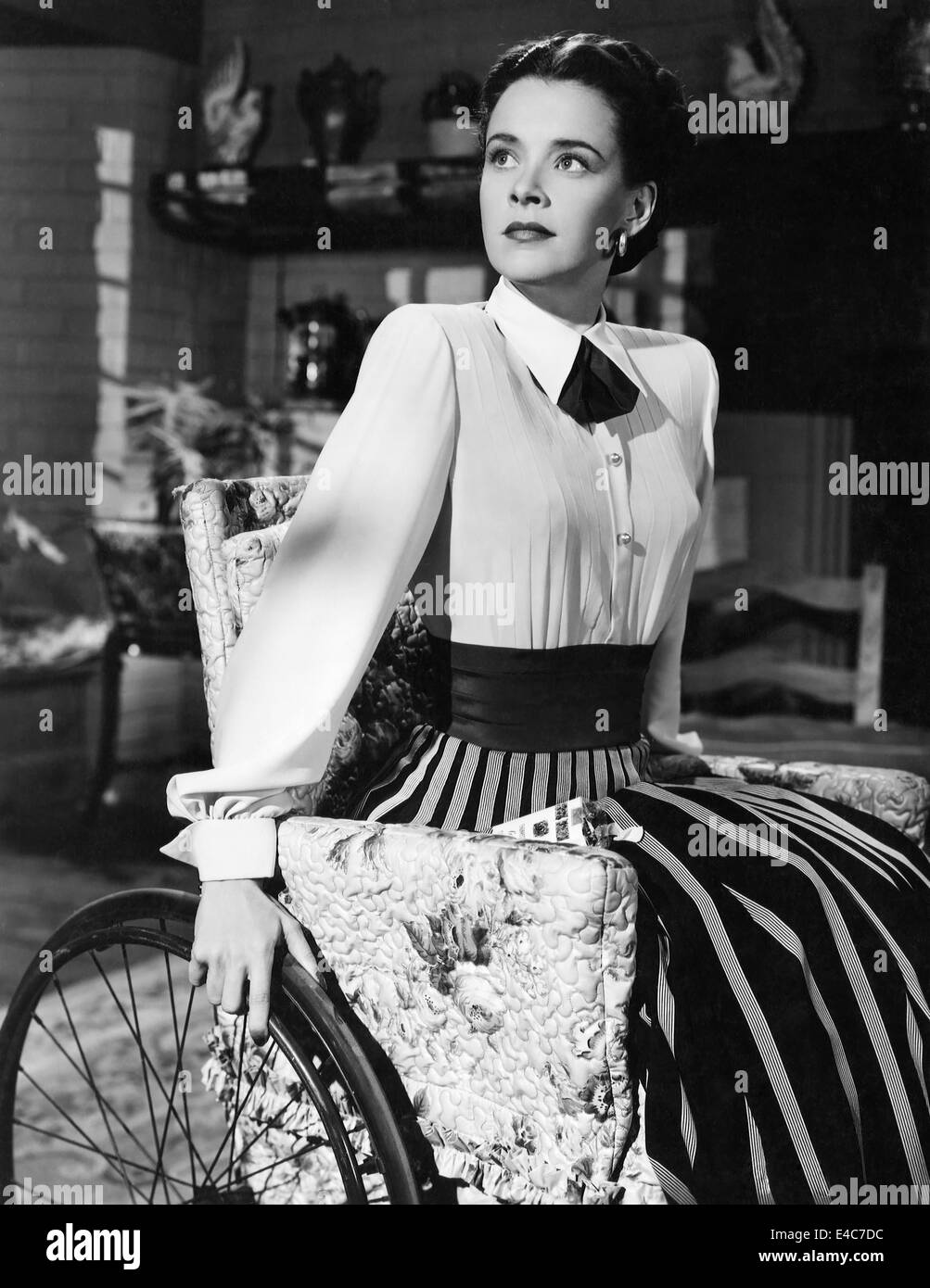 Susan Peters, on-set of the Film, 'The Sign of the Ram', 1948 - Stock Image