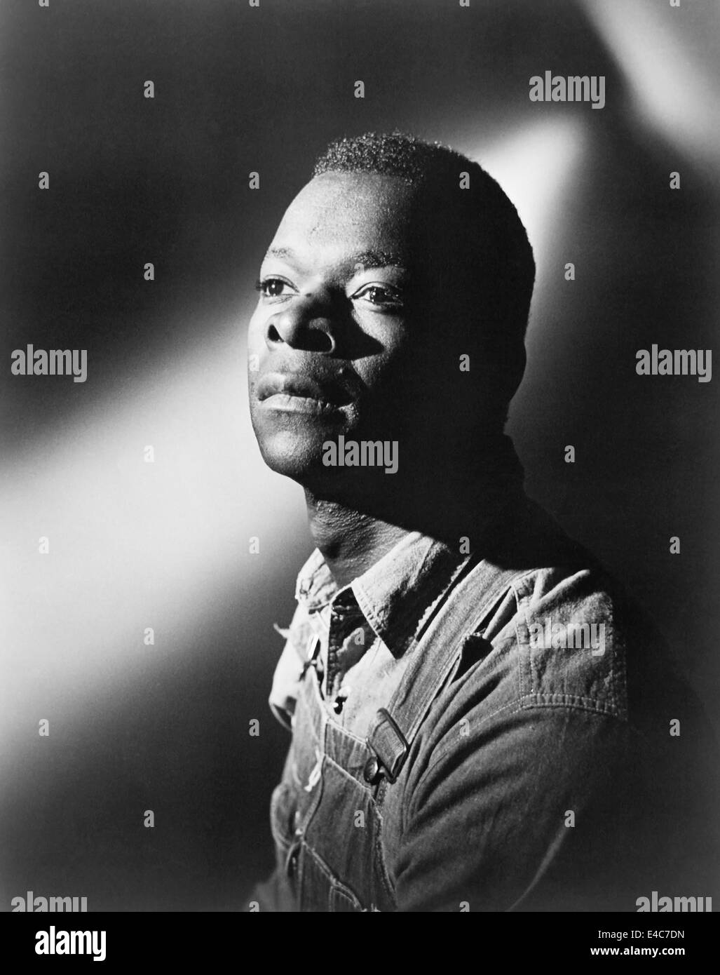 Brock Peters,  on-set of the Film, 'To Kill a Mockingbird', 1962 - Stock Image