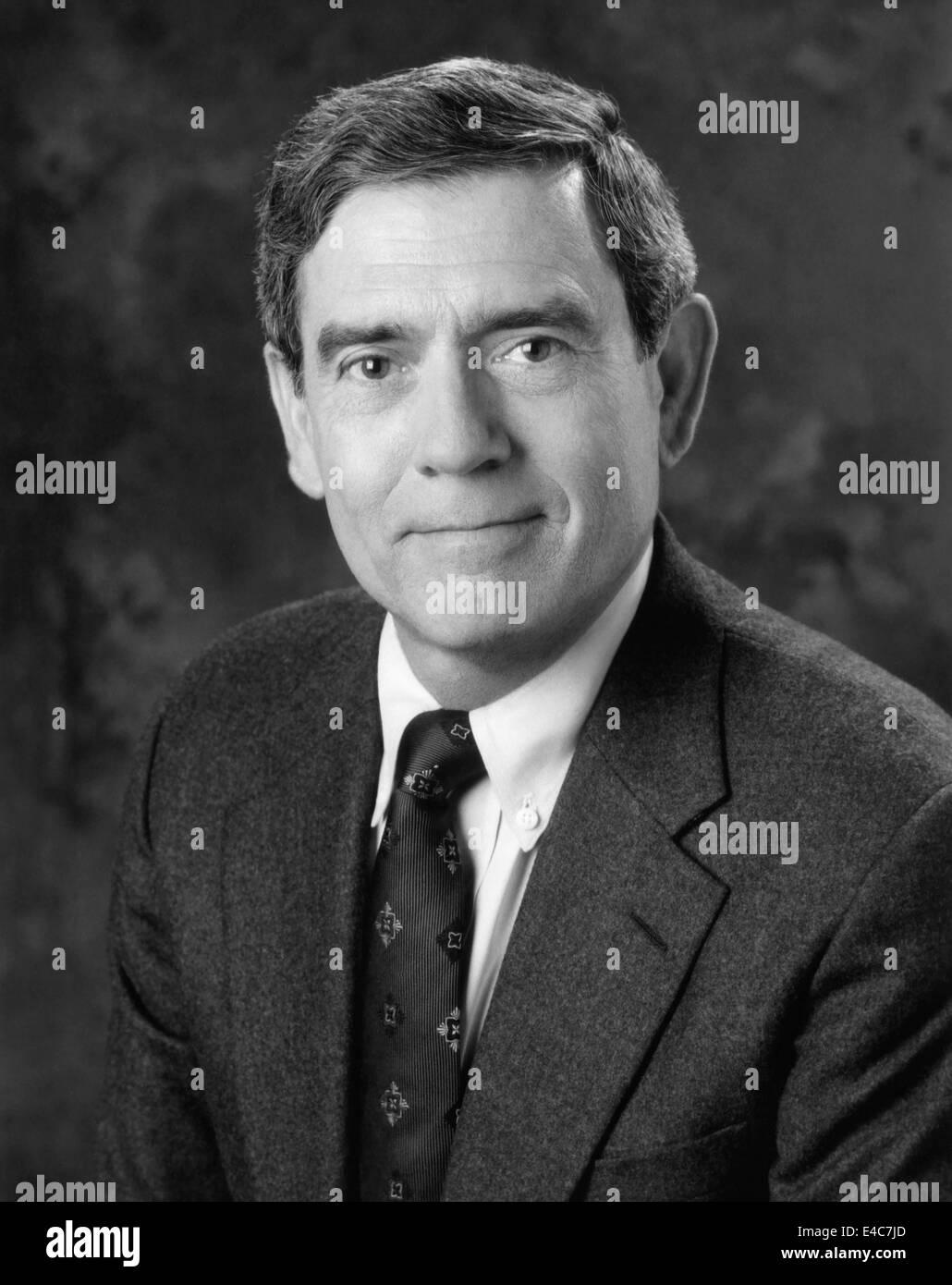 Dan Rather, American Journalist, Portrait, circa 1992 - Stock Image