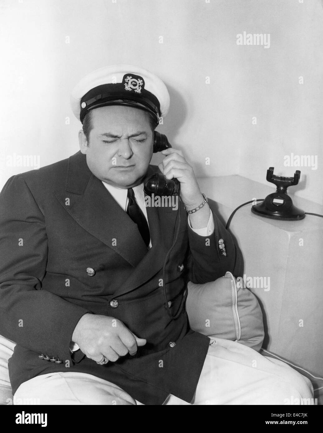 Edward Arnold, American Actor, Publicity Portrait, 1941 - Stock Image