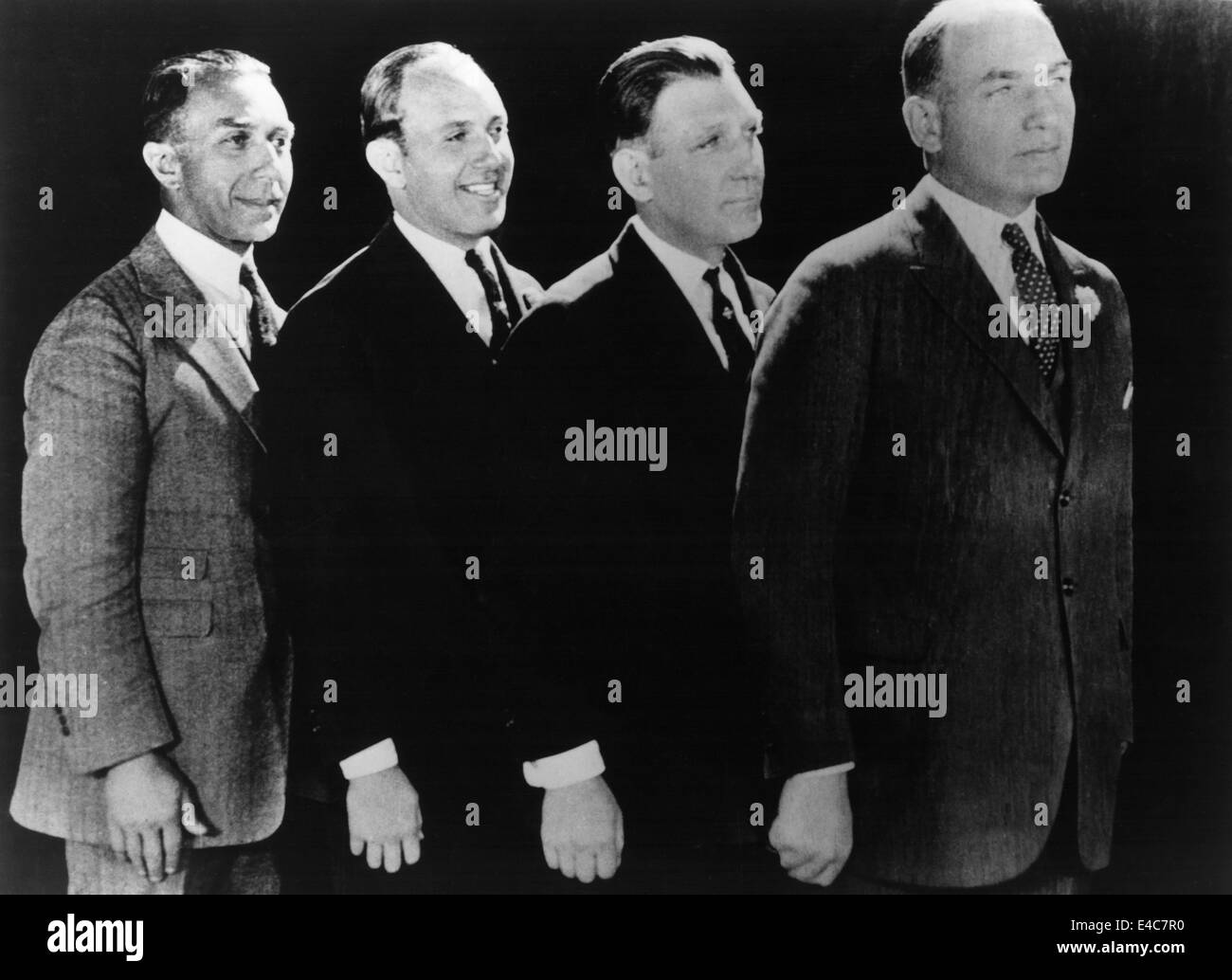 The Warner Brothers, Harry, Jack, Sam, and Albert, Film Executives at Warner Brothers Studios, Portrait, circa 1920's - Stock Image