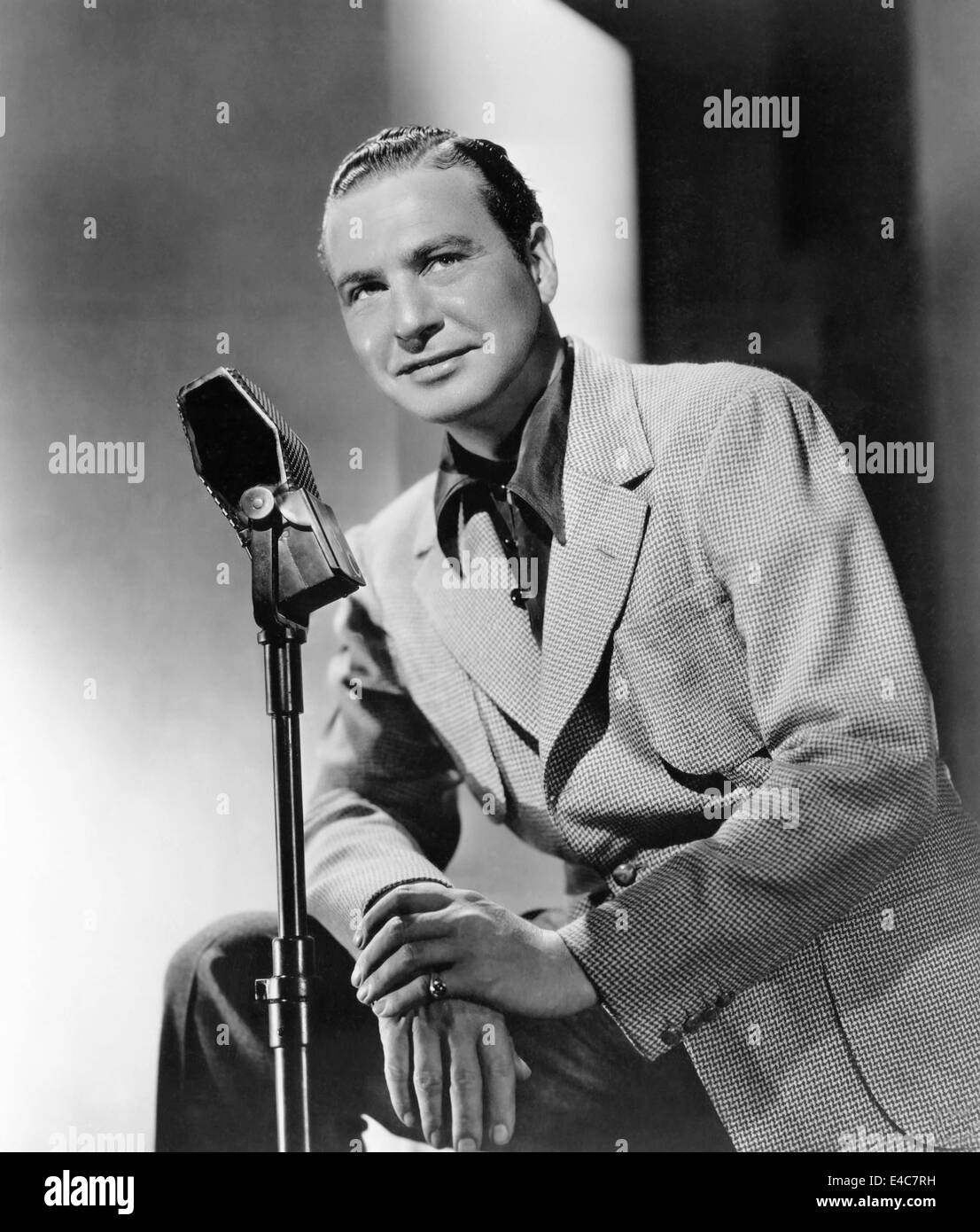 Phil Harris, American Singer, Songwriter, Jazz Musician, Actor, and Comedian, Portrait, circa 1940's - Stock Image