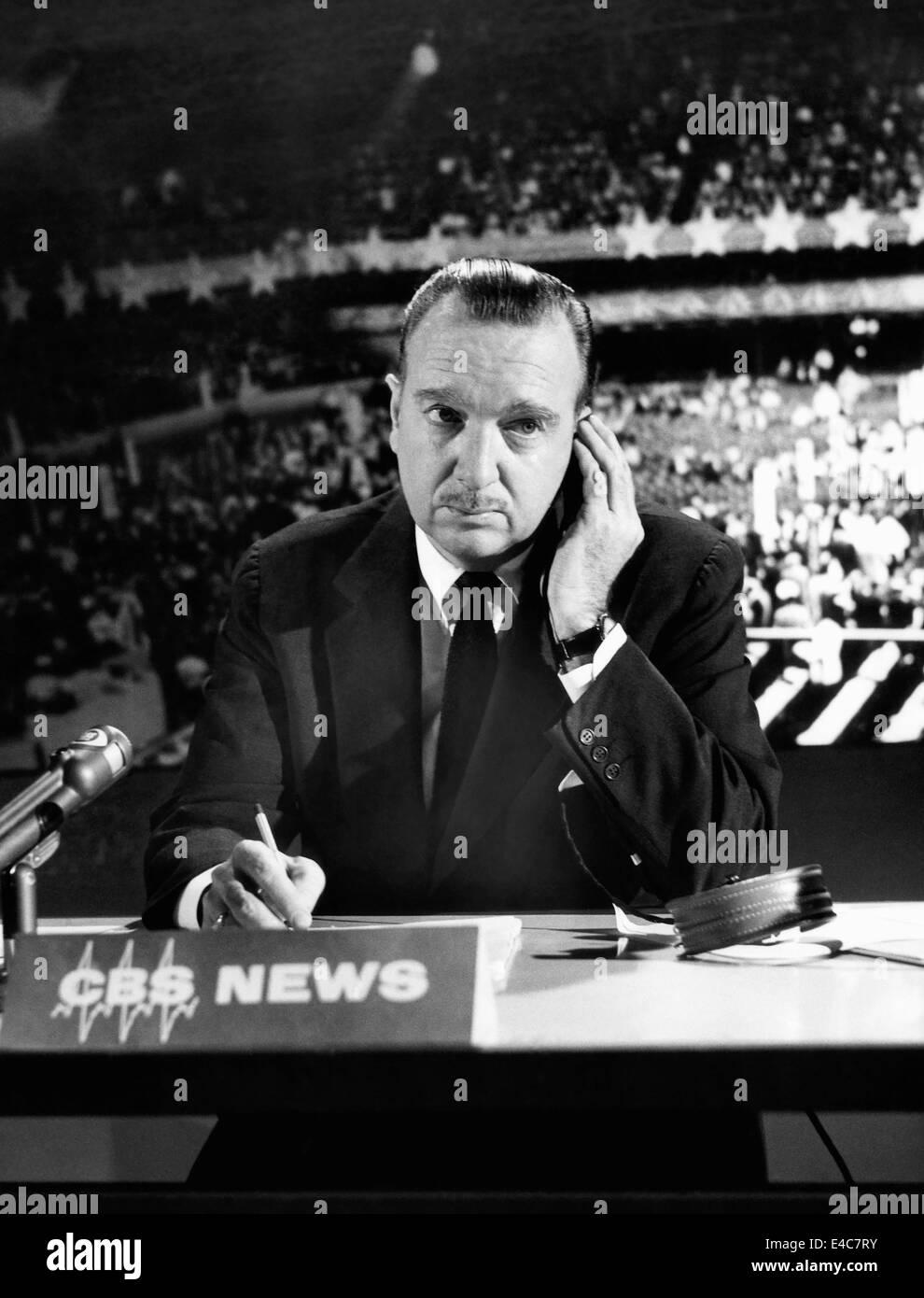 Walter Cronkite, American Journalist, 1968 - Stock Image