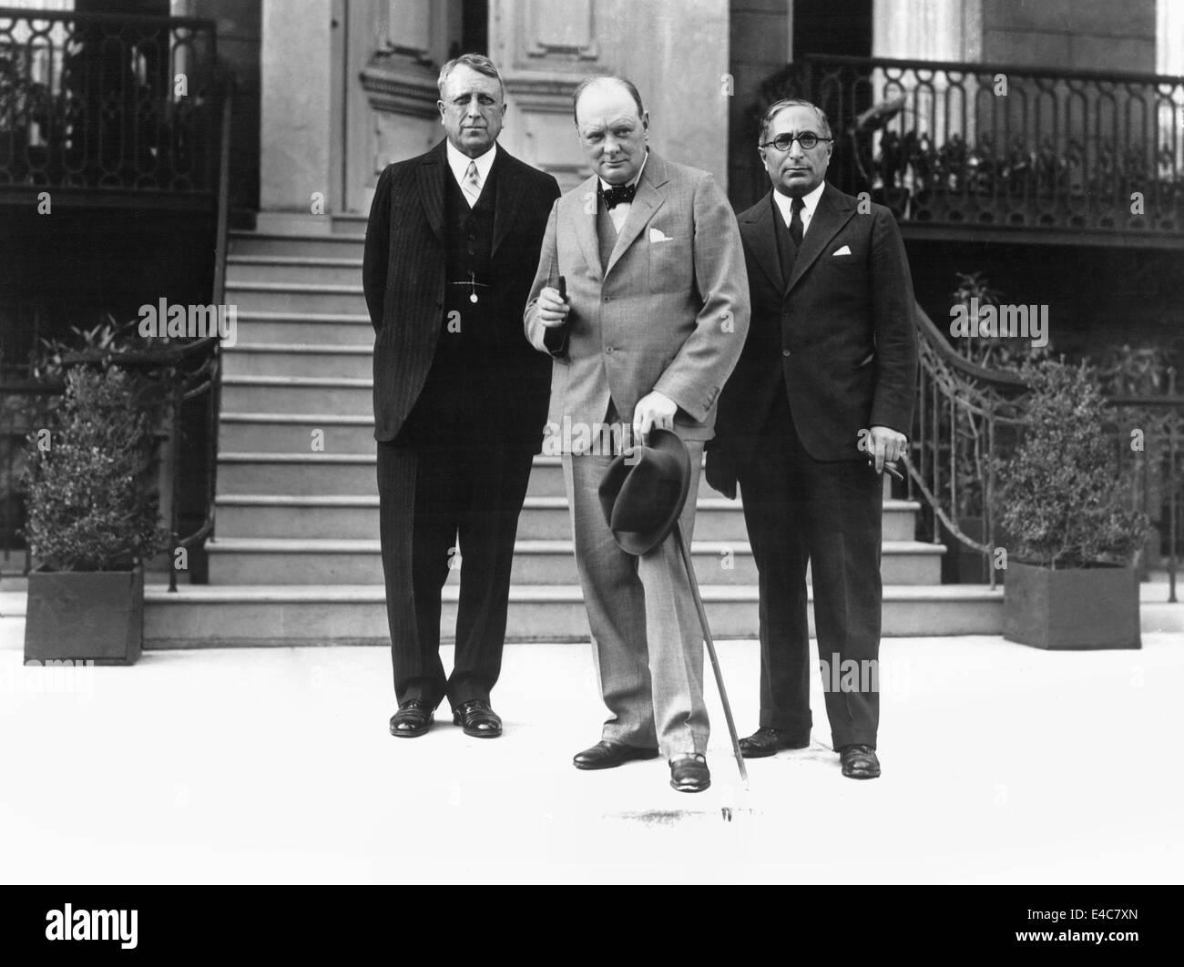 William Randolph Hearst, Winston Churchill, Louis B. Mayer, Portrait, circa 1930s - Stock Image
