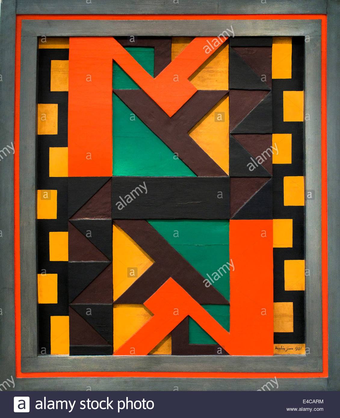 Relief polychrome , 1921  by Auguste Herbin France French Painter - Stock Image
