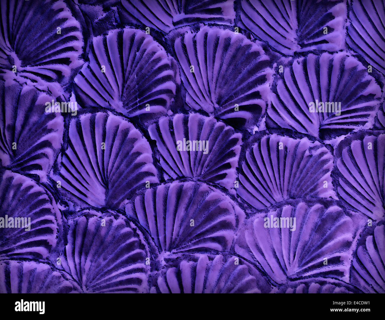 Purple mortar wall texture background aesthetic. - Stock Image