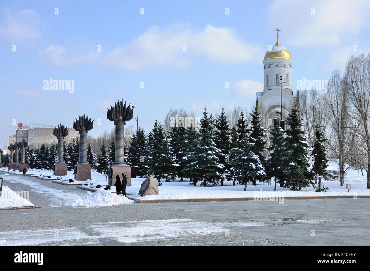 Church of St. George on Poklonnaya Hill in Moscow, Russia - Stock Image