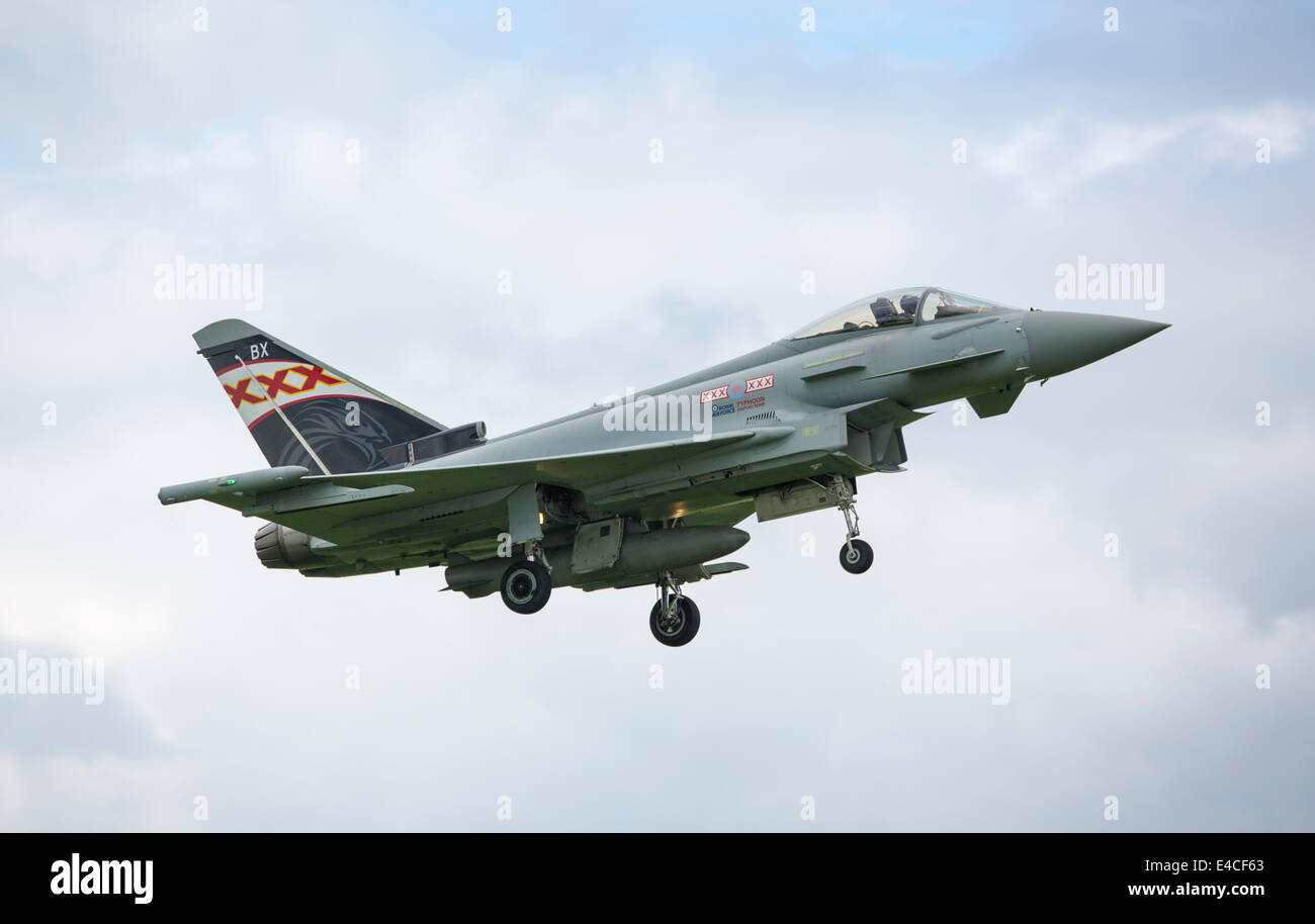 Royal Air Force Eurofighter Typhoon FGR4 ZK343-BX - Stock Image