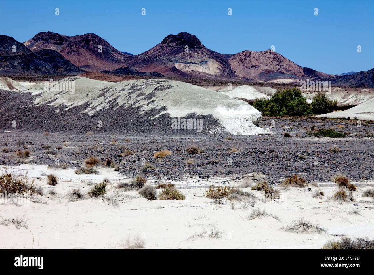 Landscape near Shoshone near Death Valley, Calif, USA - Stock Image