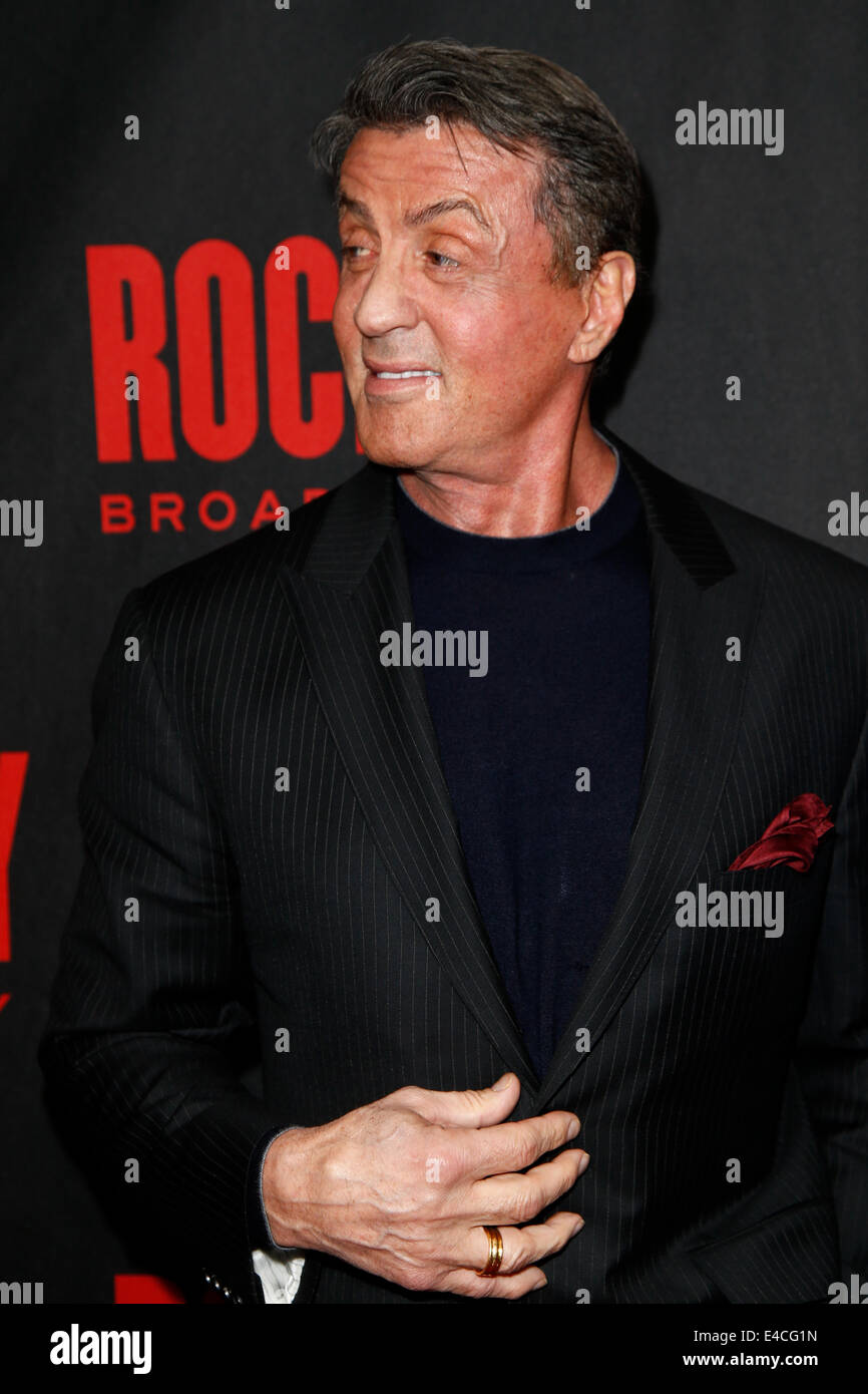 Actor Sylvester Stallone attends the 'Rocky' Broadway opening night after party at Roseland Ballroom on - Stock Image