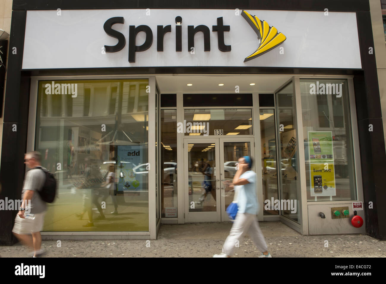 A Sprint store is pictured in the New York City borough of Manhattan, NY - Stock Image
