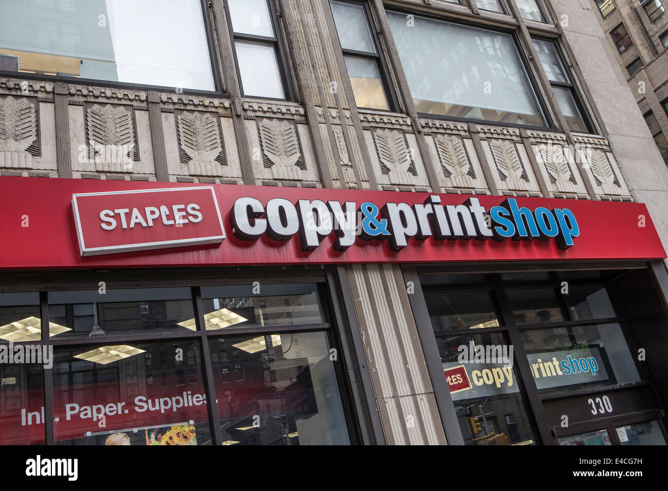 A Staples store is pictured in the New York City borough of Manhattan, NY - Stock Image