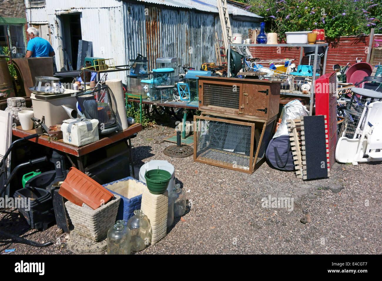Junkyard in Wellington, Somerset - Stock Image