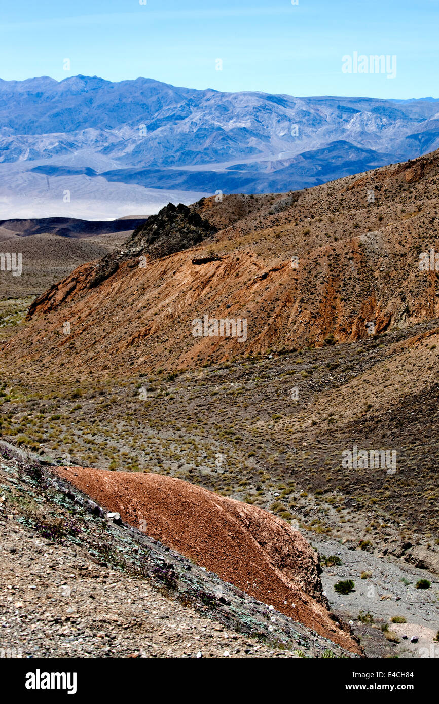 Towne Pass with Panamint Valley, Death Valley National Park, California, USA Stock Photo