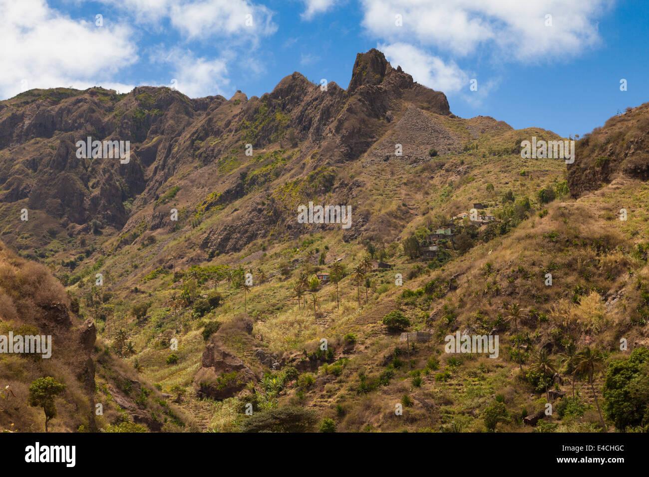 Mountains on Santiago - Stock Image