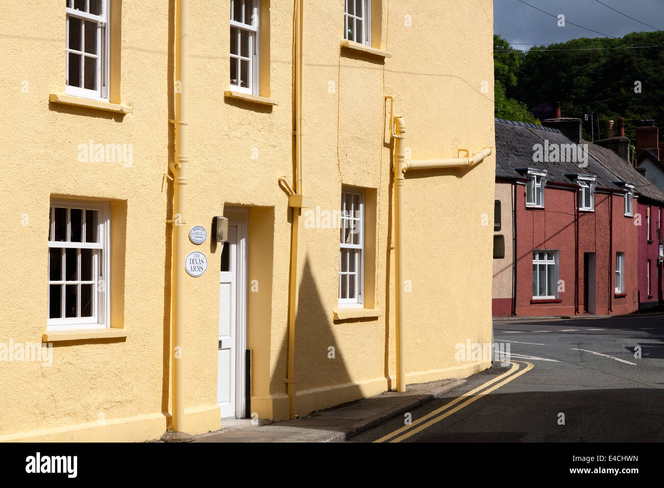Houses in Lower Fishguard, Pembrokeshire - Stock Image