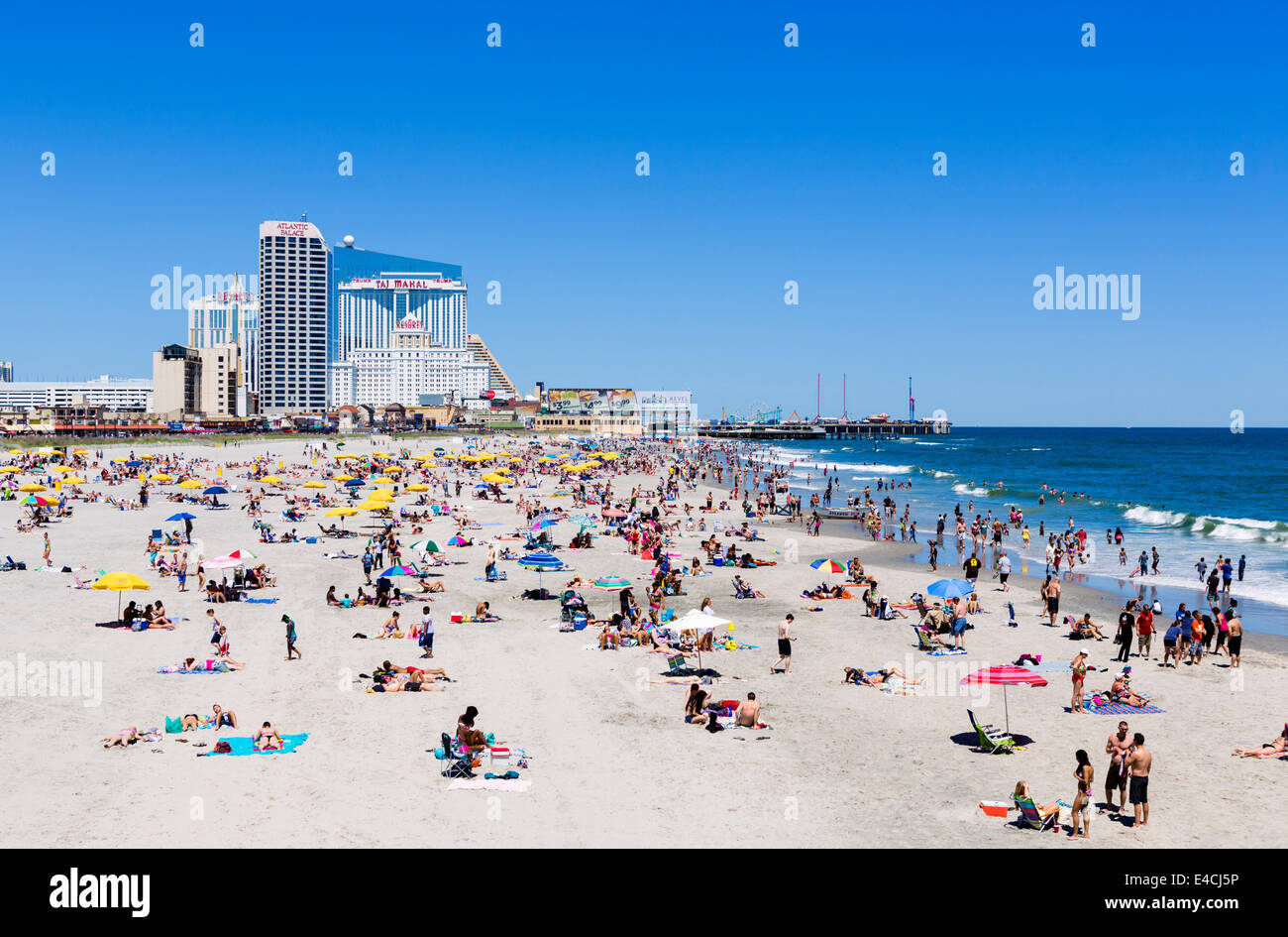 The beach in Atlantic City, New Jersey, USA - Stock Image