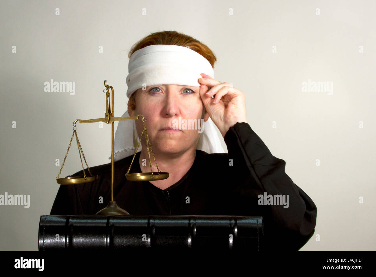 Blindfolded Woman Stock Photos Blindfolded Woman Stock Images Alamy
