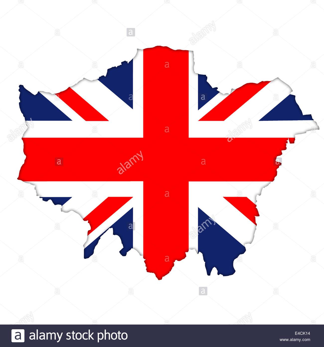 London Map Flag Icon