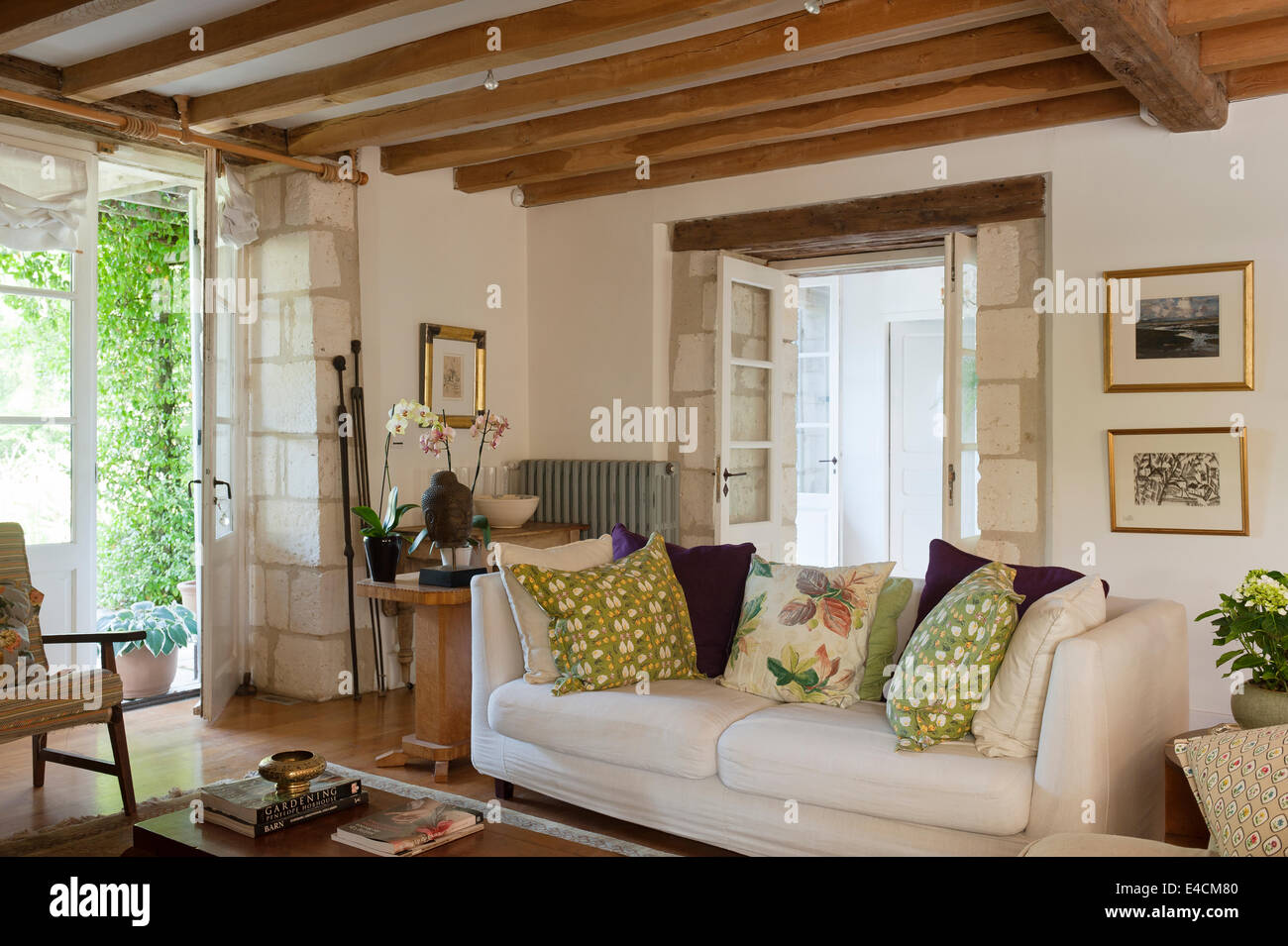 living room wood ceiling design white sofa in living room with wooden ceiling beams and 19250