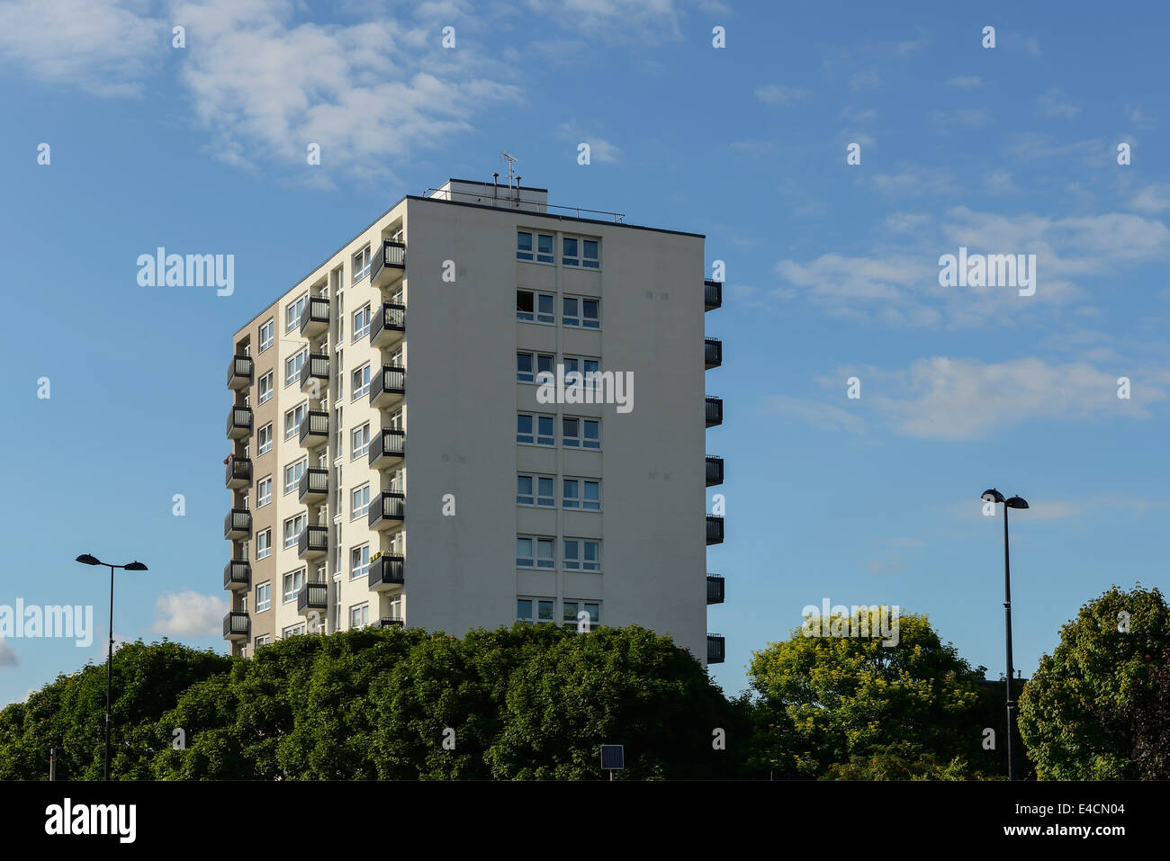 St Annes high rise flats in Chester city centre UK - Stock Image